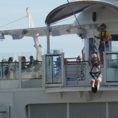 On the Zipline, Allure of the Seas