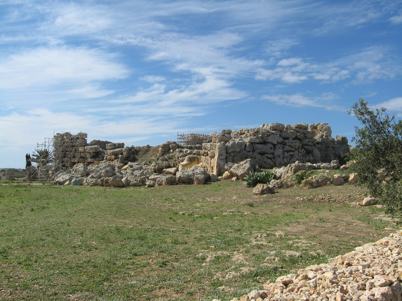Temple--Oldest free standing structures on earth-6000year. Island of Goza--Malta - Seven Seas Mariner