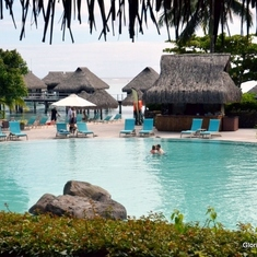 Pool at The Hilton Moorea Resort & Spa
