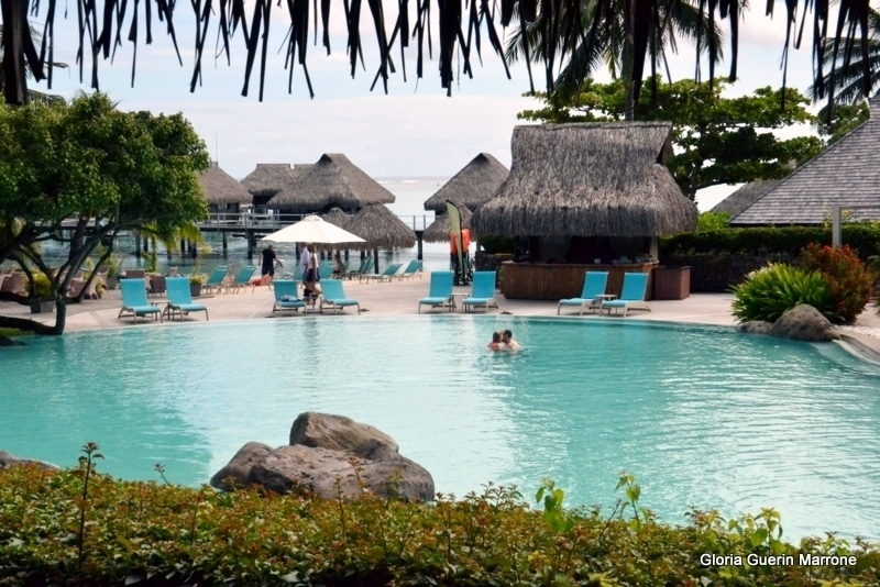Pool at The Hilton Moorea Resort & Spa - Amsterdam