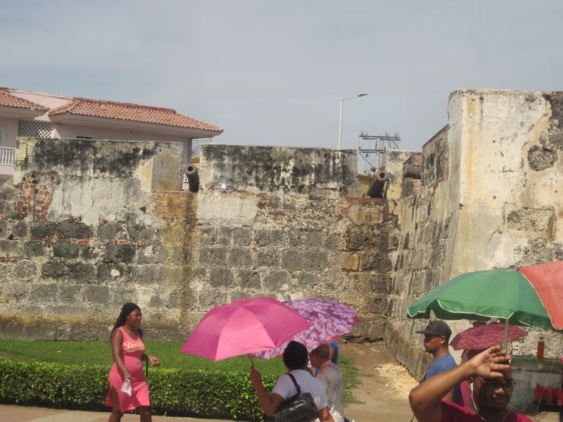 Cartagena, Colombia - Wall of old city in Cartagens