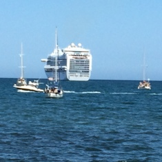 Our ship leaving without us. (just kidding)
