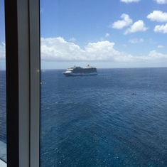 View from our lunch table