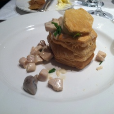 Sweetbreads in pastry in the main dining room of Royal Princess