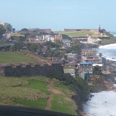 Beautiful surf in San Juan.  Taken from the top of the old fort.