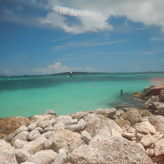 Cococay (Cruiseline's Private Island) - View from the shore