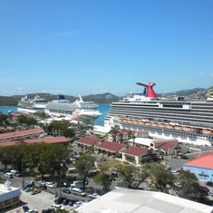 Charlotte Amalie, St. Thomas - view of ship from St Thomas
