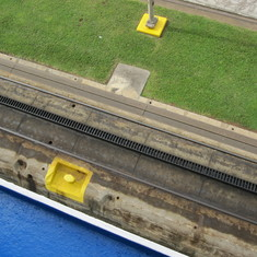 End of rising in the Miraflores Locks from deck 7.