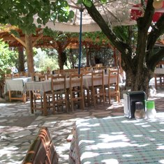 Bizim Ev restaurant near Sirince, Turkey