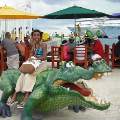 Happy Gator Riding