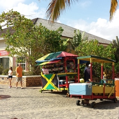 You must visit this cart - fresh sugar cane, water coconuts and pastries