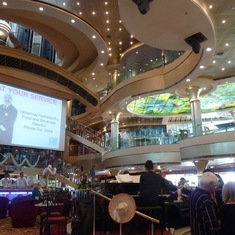 The Atrium on embarkation day
