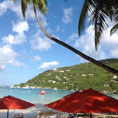 Tortola, British Virgin Islands -  Charming view of the bay of Virgin Islands.