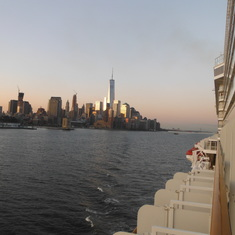 NCL Breakaway passing World Trade Center