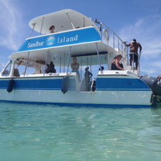 Sandbar excursion boat