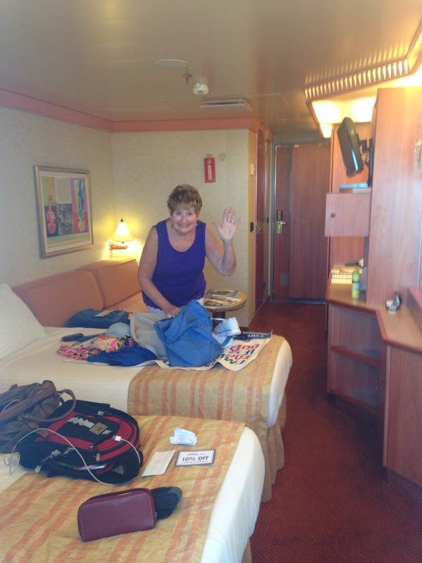 Carnival Liberty cabin 8267 - Mom starts unpacking