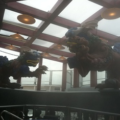 Thalossotherapy decor includes dragons, Carnival Splendor