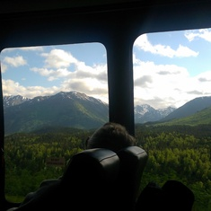 Seward (Anchorage), Alaska - On the ride from Seward to Anchorage