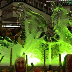 Ice sculpture at Gala Buffet