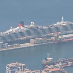 """Ship and Harbor View from """"Rock of Gibraltar"""""""