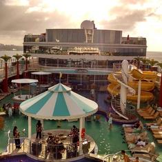 Gem Pool deck, kids side in view