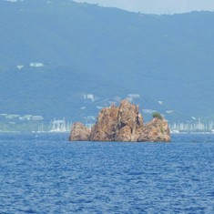 One of the islands on the boat tour