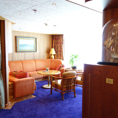 Living Room in Pinnacle Suite, Cabin 7001