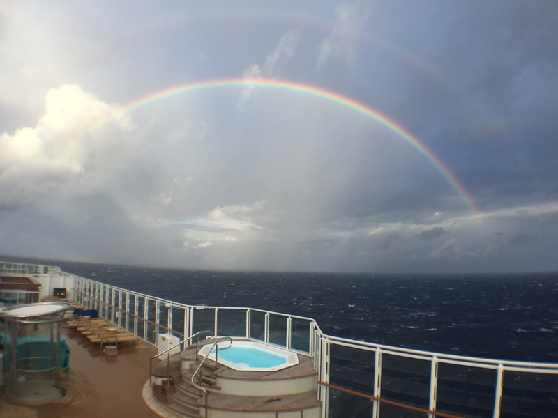Early morning rainbow hunting - Norwegian Escape