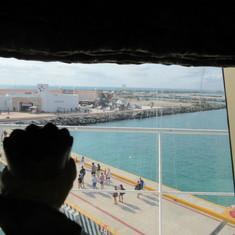 View of Progreso Port area