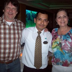 With Waiter Santu