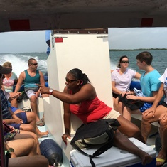 Belize City, Belize - snorkeling boat ride