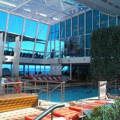 Solarium pool aboard Celebrity Silhouette