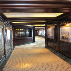 Hallway before Wheel House bar