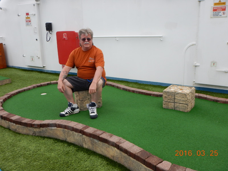 Mini Golf on Carnival Pride