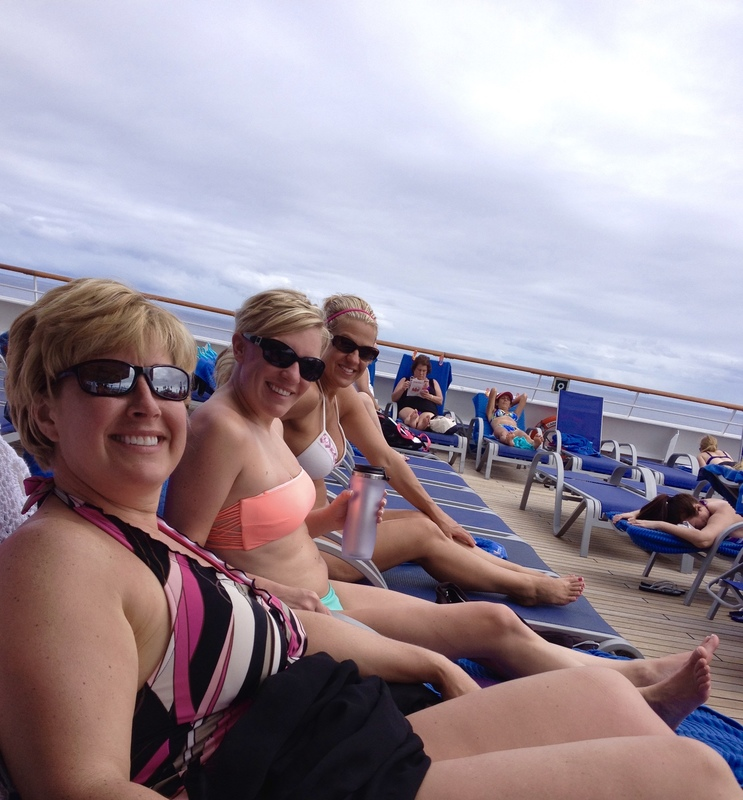 ladies on deck - Carnival Liberty