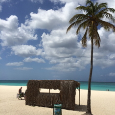 Oranjestad, Aruba - White sand beach...what more can one ask for!  Oh yeah, a RUM drink of any kind!