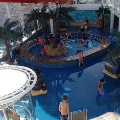 Overlooking Kiddie Pool Area
