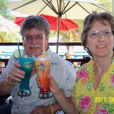 DDrinks at Margaritaville on Grand Turk.