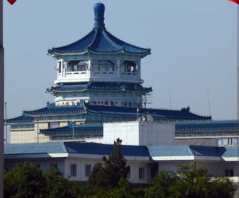 Xingang (Beijing), China - Impressive building just outide of Tian'anment Square