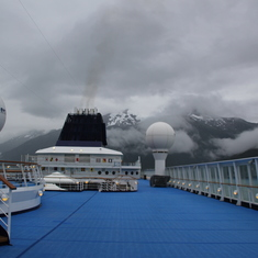 View from Upper Deck of Norwegian Sun in Juneau