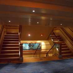 The elevator and steps