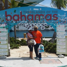 my hubby and I enjoying the Bahamas