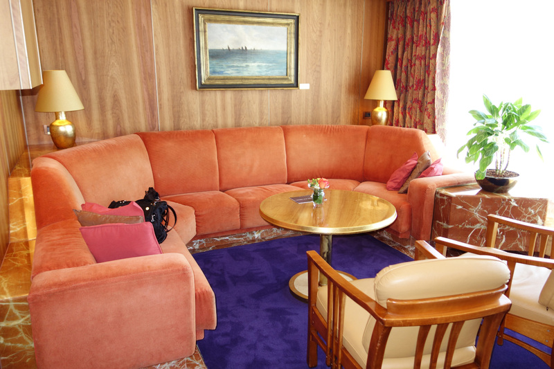 Living Room in Pinnacle Suite, Cabin 7001 - Zaandam