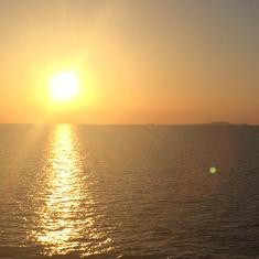 Sunset on the Mediterannean