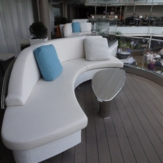 One of the couches, Deck 10, facing the Lido pool