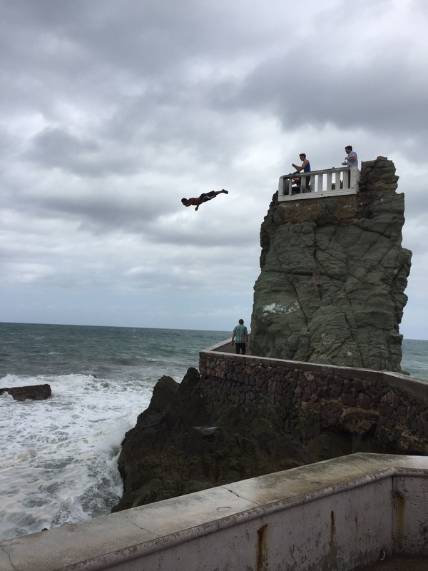 Cliff diver in Mazatlan - Carnival Miracle