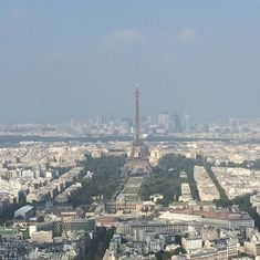 Paris, France - Eiffel Tower in Paris from atop the Montparnesse Tower