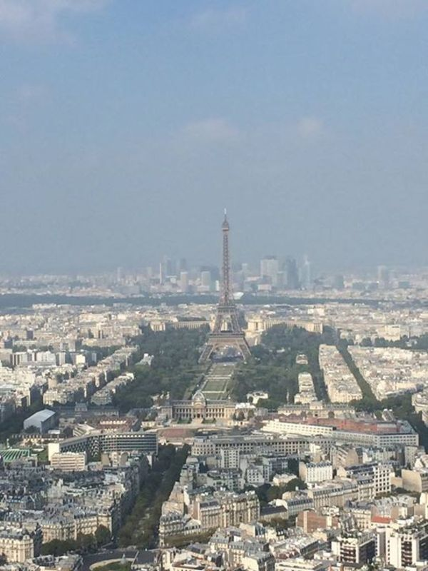 Eiffel Tower in Paris from atop the Montparnesse Tower