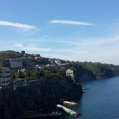 The Sorrento shoreline rivals Santorini for beauty.