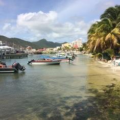 The beach at St Maarten
